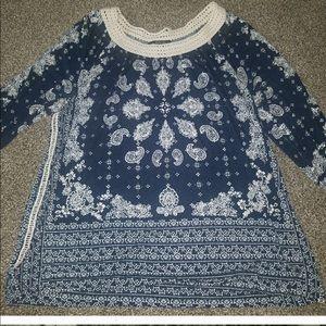 Knit top with crochet neckline- must bundle